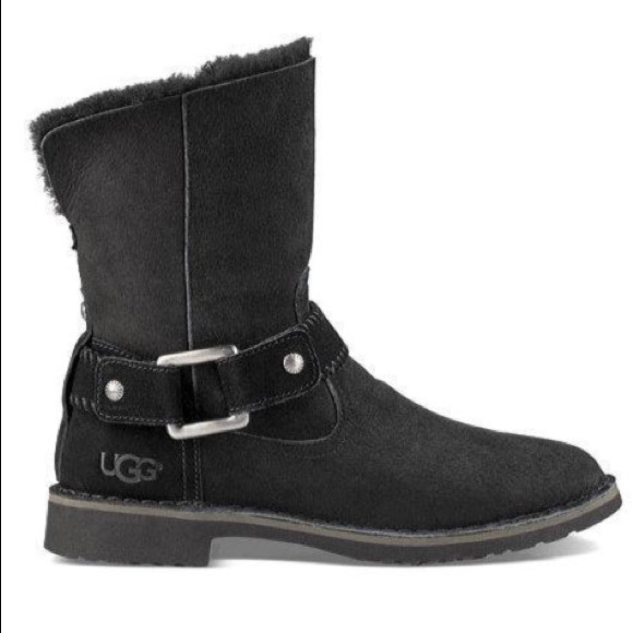 7ecd6e9886d UGG Women's Cedric Fur-Lined Leather Boots NWT